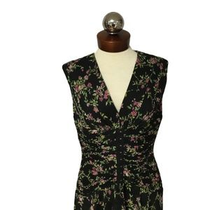 Jill Jill Stuart crepe floral gathered dress 10